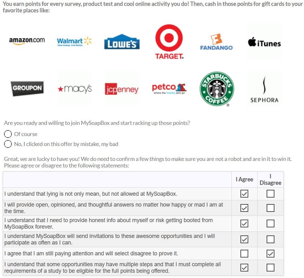 MySoapBox Basic Questionnaire