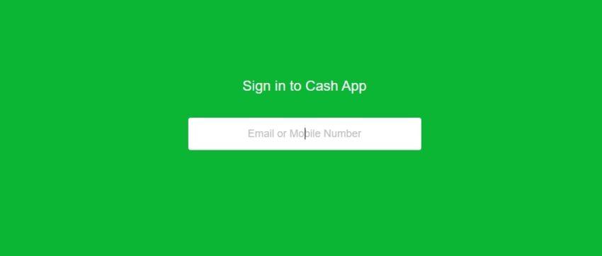 Cash App sign-up